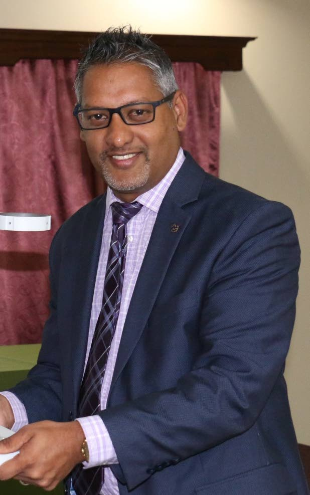 Minister of Agriculture Clarence Rambharat