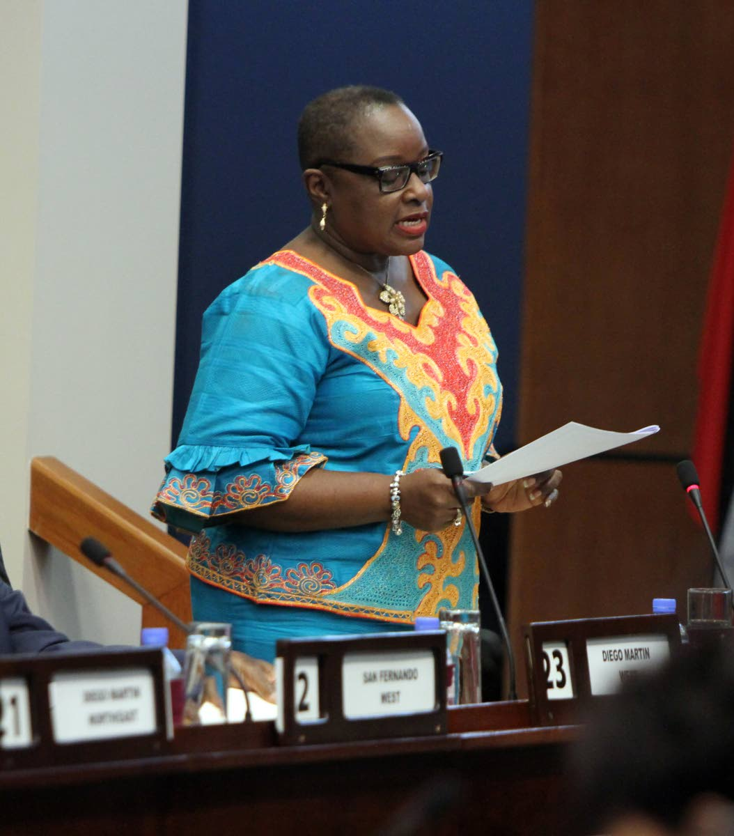 Minister of Planning and Development Camille Robinson-Regis.