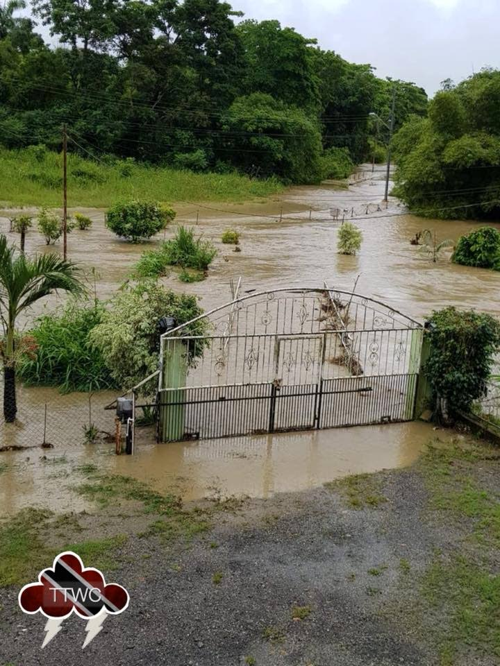 This photo was posted today on the Trinidad and Tobago Weather Center's Facebook page by a Bonne Aventure, Gasparillo resident.