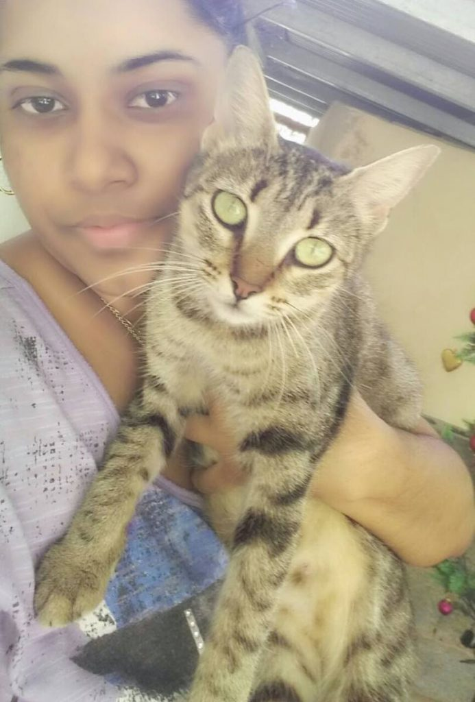 Bibi Karim and her pet cat Susie, who was poisoned close to their Mayo home last Thursday.