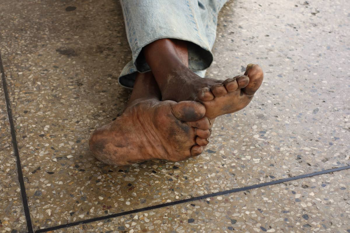 Louis Lee Singh's Dirty Feet, from the State of Neglect collection.