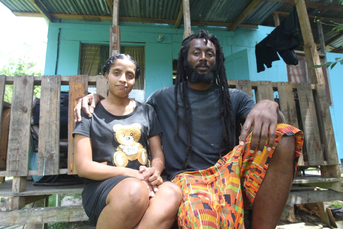 Alyssa Ramos and husband Shevon Joseph of Fraser Street, Rio Claro  seeking public assistance to construct a home for their family.