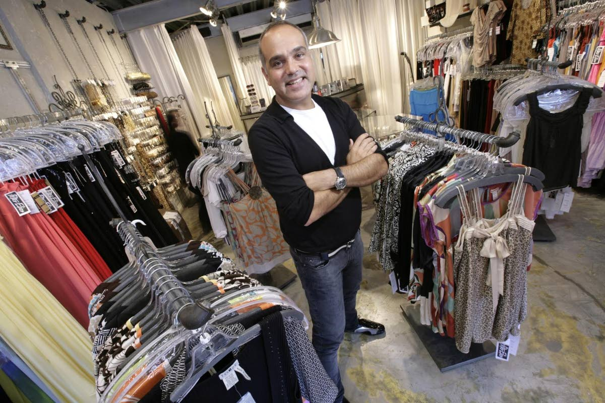 Designer Peter Elias at his Ellersile Plaza store, Saddle Road, Port of Spain. Elias spoke to Newsday at his store about his return to  mas design with band  The Lost Tribe.
