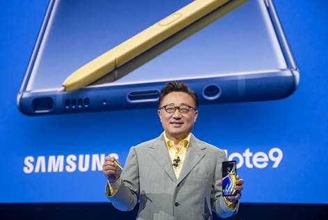 DJ Koh, President and CEO of IT and Mobile Communications Division, Samsung Electronics, at the release of the Samsung Note9.