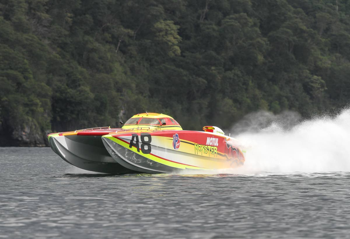 Motul Monster conducts testing recently in Chaguaramas ahead of the TT Great Race which takes off on Saturday at the Foreshore, Port of Spain. PHOTO BY Nicholas Bhajan/CA-images