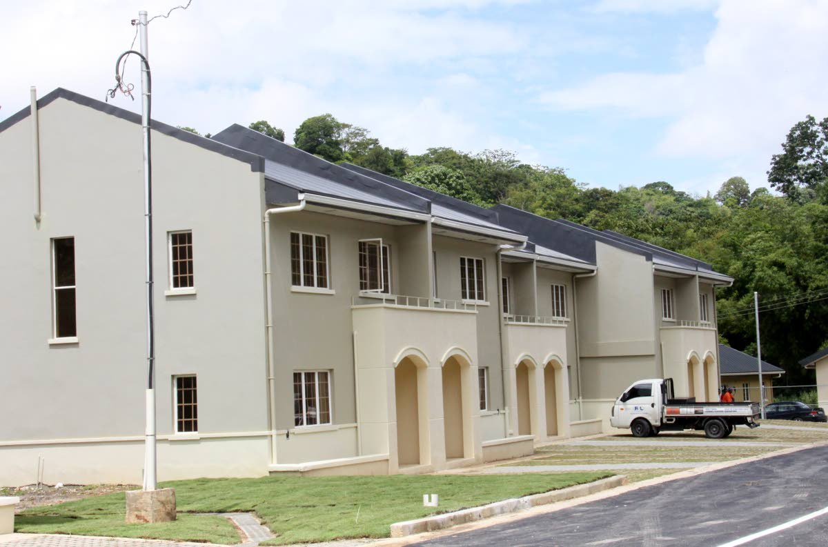 File photo: Townhouses in the new housing development, River Runs Through, at Arima Bypass Road, Arima, the keys to which were recently distributed by the Housing Development Corporation. Photo by Angelo Marcelle