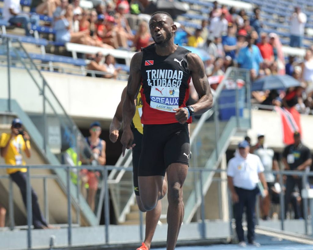 TT sprinter Kyle Greaux competes at the NACAC Championships in Toronto, Canada. PHOTO BY SPORTS CORE