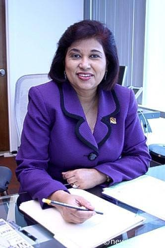 Political Leader of the Congress of the People, Carolyn Seepersad Bachan