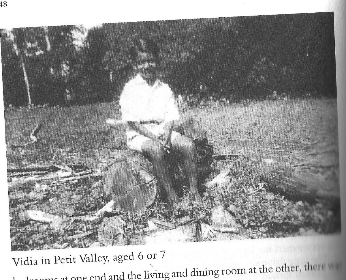 VS Naipaul, age six or seven, at the family's Petit Valley cocoa estate. Recopy photo from The Naipauls of Nepaul Street.