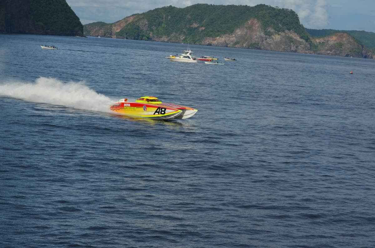 MOTUL Monster race to their fourth Great Race title in their last four attempts yesterday when they arrived at Store Bay, Tobago first in the A-Class (130Mph) . Monster's performance came in a Great Race and Union Internationale Motonautique (UIM) record time of 47 minutes and 43 seconds.