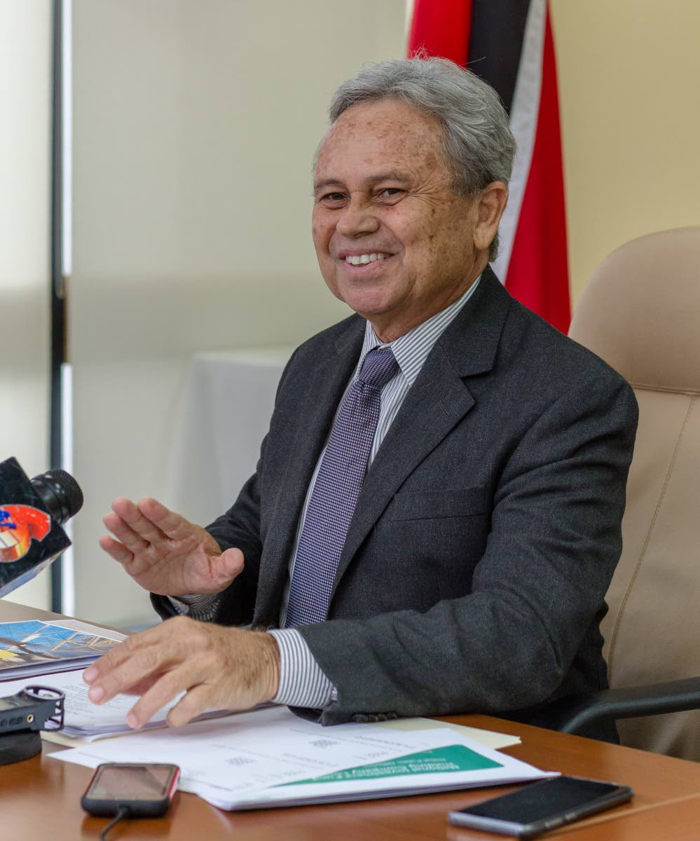 Minister of Finance Colm Imbert  Photo by Jeff Mayers