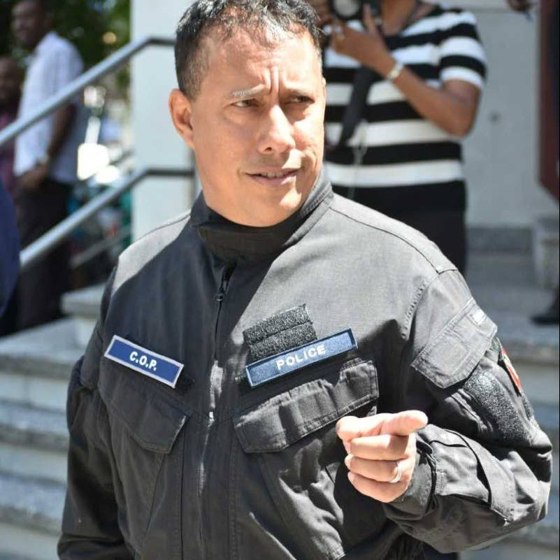 File photo: Police Commssioner Gary Griffith in tactical wear outside Police Administration Building, Port of Spain. PHOTO COURTESY TTPS