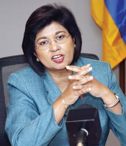 COP leader Carolyn Seepersad-Bachan.