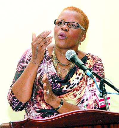 Head of the Victims and Witness Support Group and human rights activist Margaret Sampson-Browne.