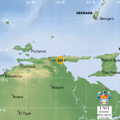 File photo. Image courtesy UWI Seimic Centre shows the August 22, 2018 earthquake.