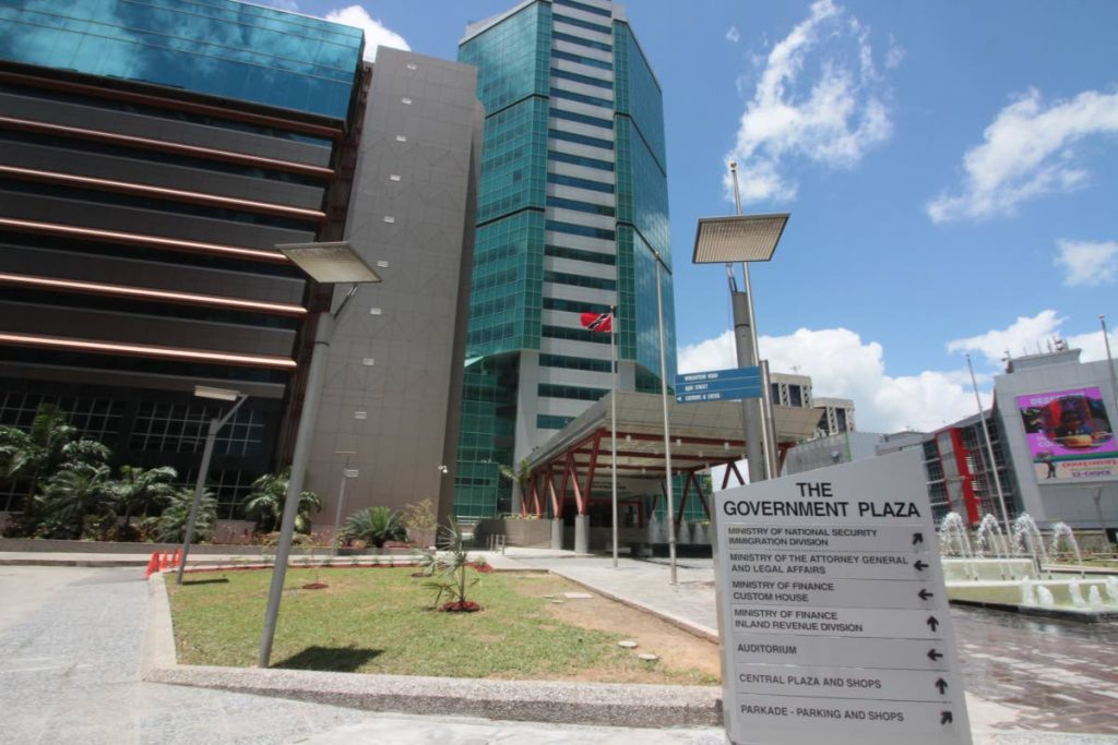 The Government Campus Plaza, in which the Ministry of the Attorney General and Legal Affairs building is located, in downtown Port of Spain. This view is from Wrightson Road. PHOTO BY ROGER JACOB. May 9, 2017.