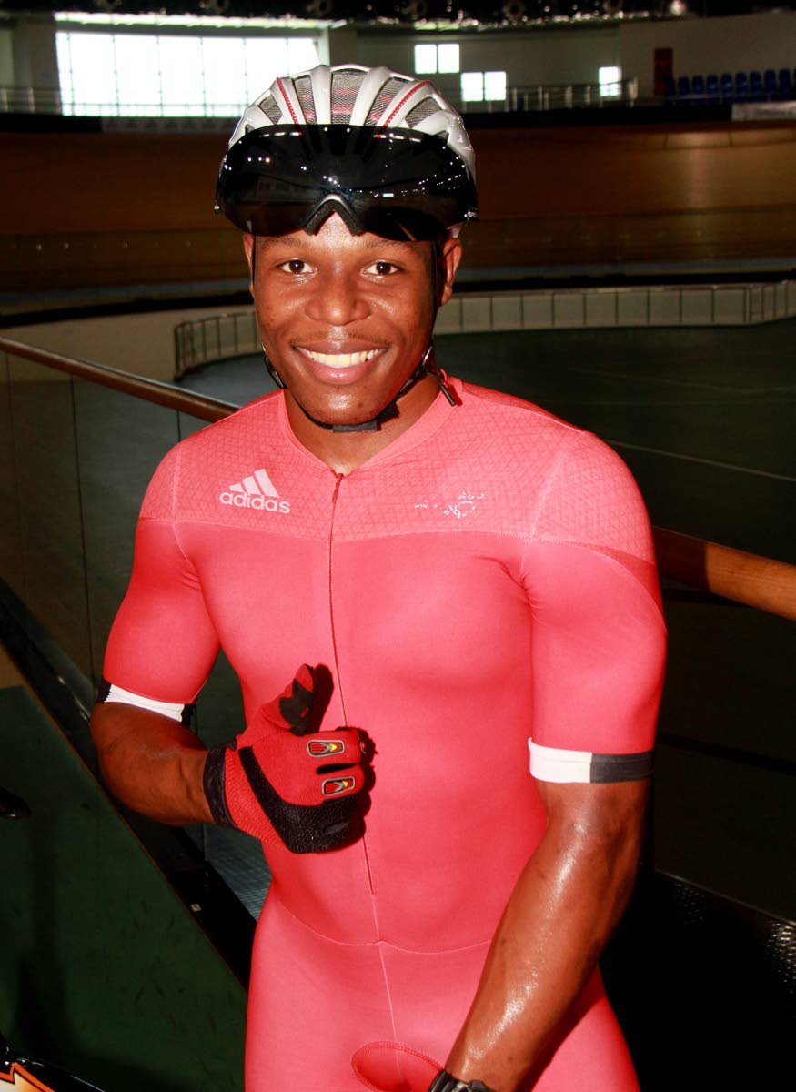 Cyclist Nicholas Paul during practice at the National Cycling Centre, Couva, recently. PHOTO BY ANIL RAMPERSAD.