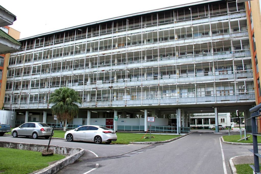 The Cental Block of Port of Spain General Hospital. PHOTO BY SUREASH CHOLAI