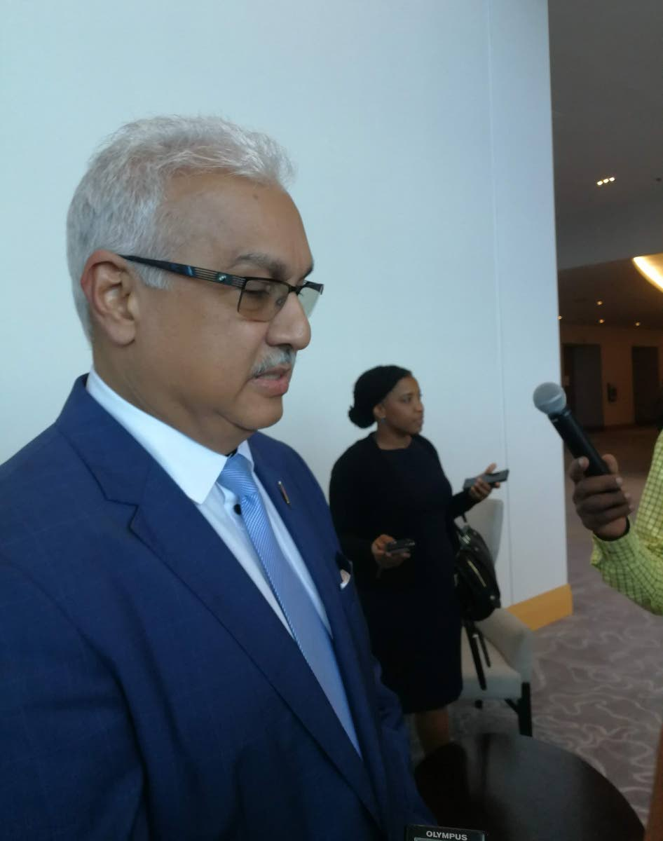 Health Minister Terrence Deyalsingh speaking to the media at Hyatt Regency, Port of Spain on September 9, 2018. PHOTO BY SASHA HARRINANAN