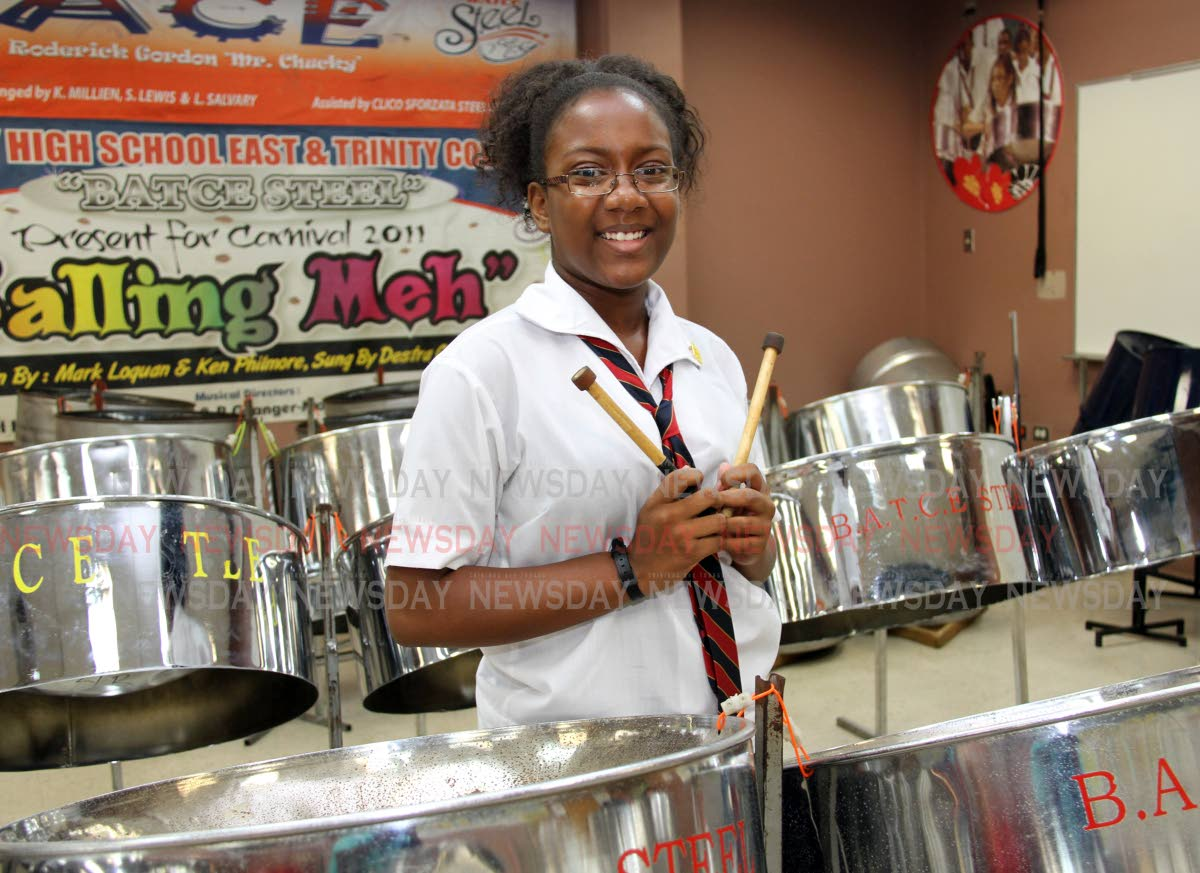 Bishop Anstey East student Sydney Nichols, an acclaimed pannist, wants to be a music teacher. PHOTO BY SUREASH CHOLAI