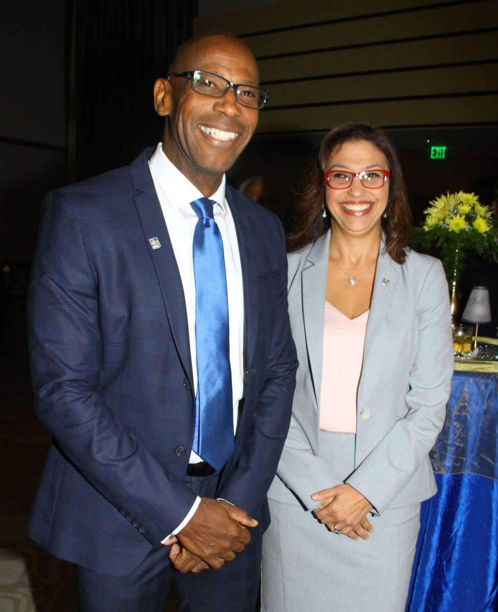 Gretchen Camacho-Mohammed, new Managing Director of RBC Royal Bank T&T and Darryl White, new CEO of RBC Financial (Carribean) Ltd The formal introduction event of new appointments, where Gretchen Camacho-Mohammed, new Managing Director of RBC Royal Bank T&T and Darryl White, new CEO of RBC Financial (Carribean) Ltd, Conference Room, Hyatt, POS. Friday, September 14, 2018. PHOTO BY ROGER JACOB.