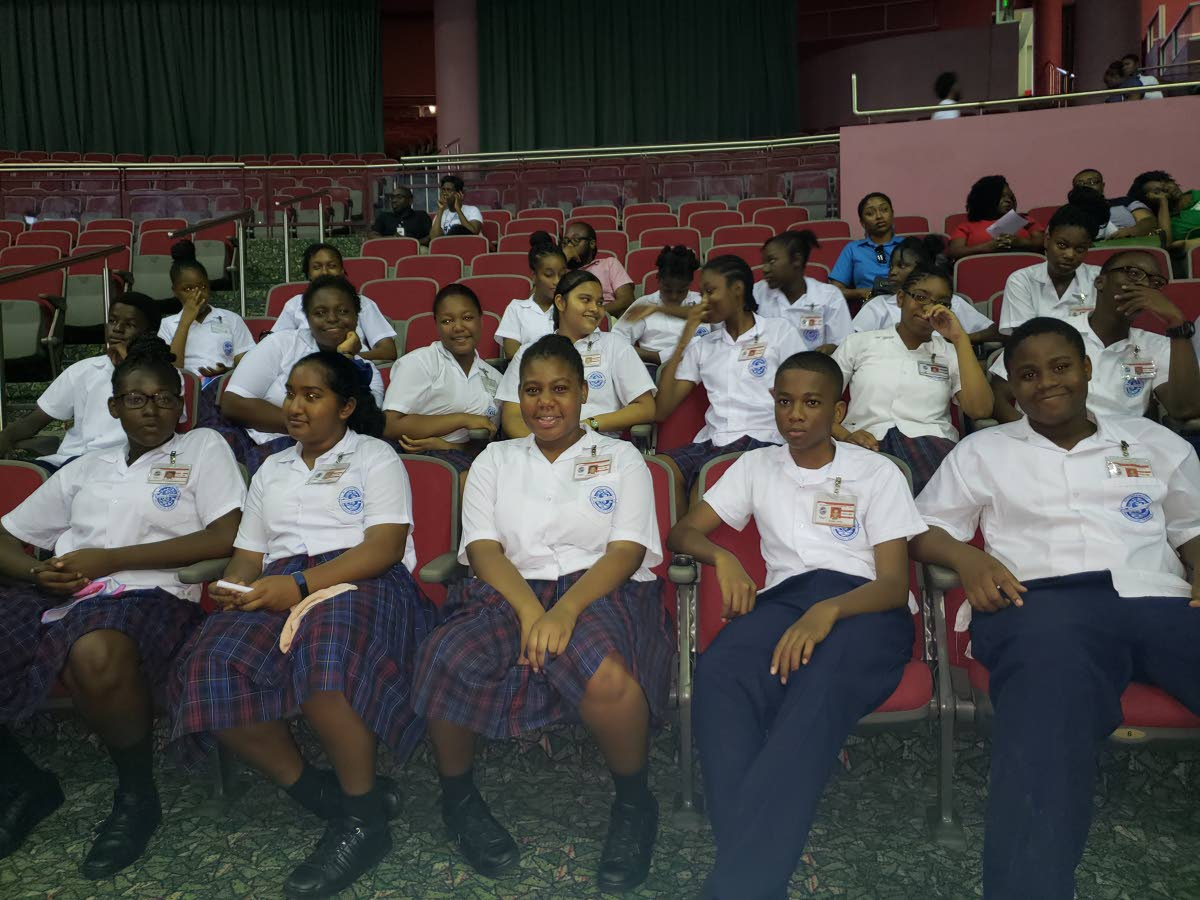 Students of the Scarborough Secondary School attend Tobago Youth Expose 2018 at the Shaw Park Cultural Complex last Friday.