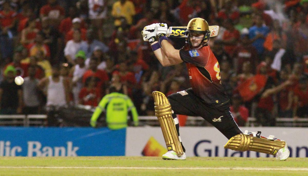 Top-scorer for the Trinbago Knight Riders Colin Munro led his side to victory in the CPL final. PHOTO BY ANIL RAMPERSAD