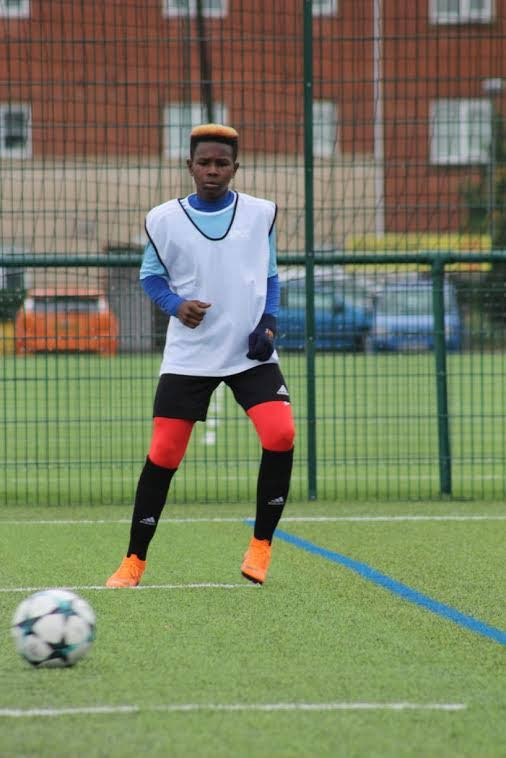 Addae Paponette training in England.