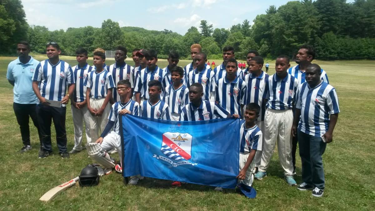 The St Mary's College Under-16 cricket team that completed a USA tour.
