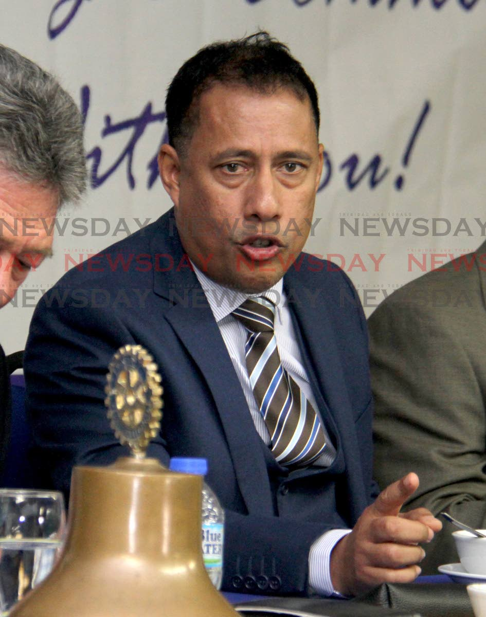 Specially invited guest and feature speaker, Gary Griffith, Commissioner of Police at the  Rotary Club of T&T District of Port of Spain. September25, 2018. PHOTO BY ROGER JACOB.