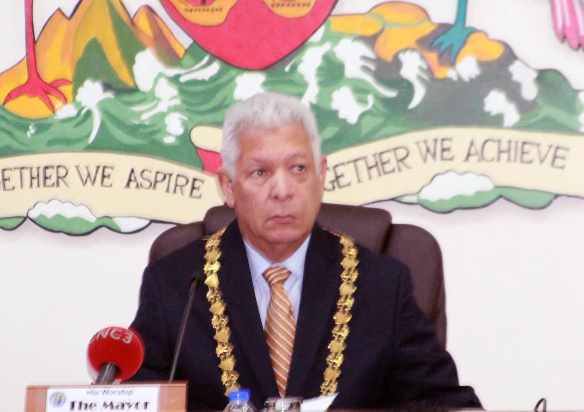 Port of Spain mayor Joel Martinez