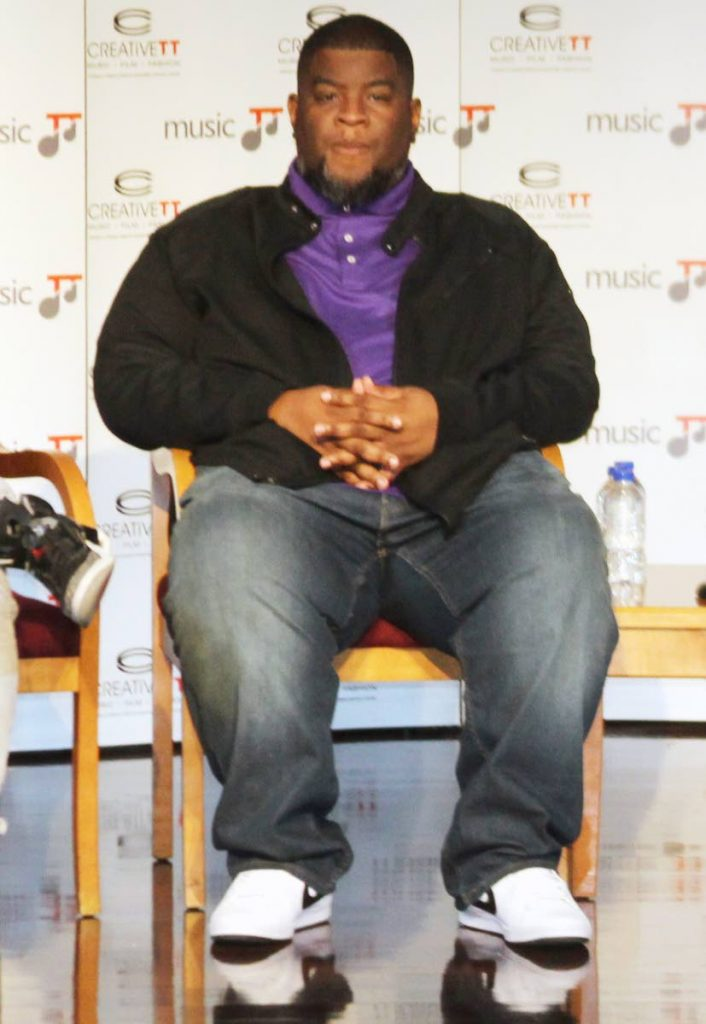 salaam remi at the Music TT media brief yesterday .  photo by enrique asssoon