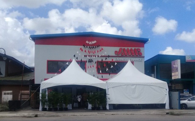 JMMB Express Finance's office at Ramsaran Street, Chaguanas.  Photo: Laurel V Williams
