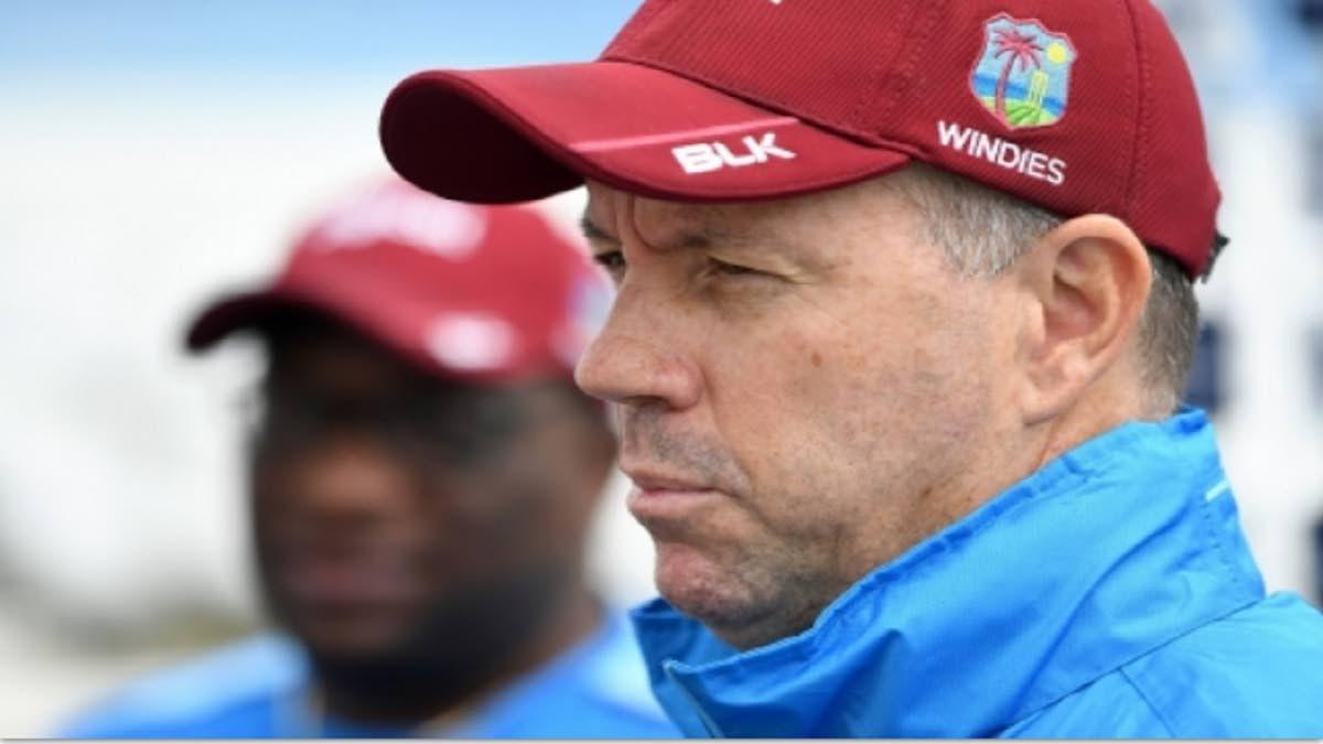 Outgoing West Indies head coach Stuart Law.