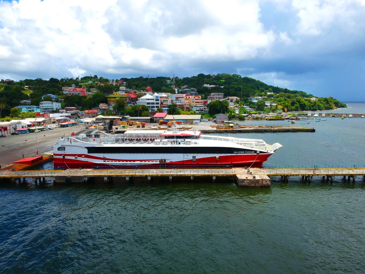 File photo: An aerial view of the Galleons Passage at the Scarborough port on a trial run on September 15.