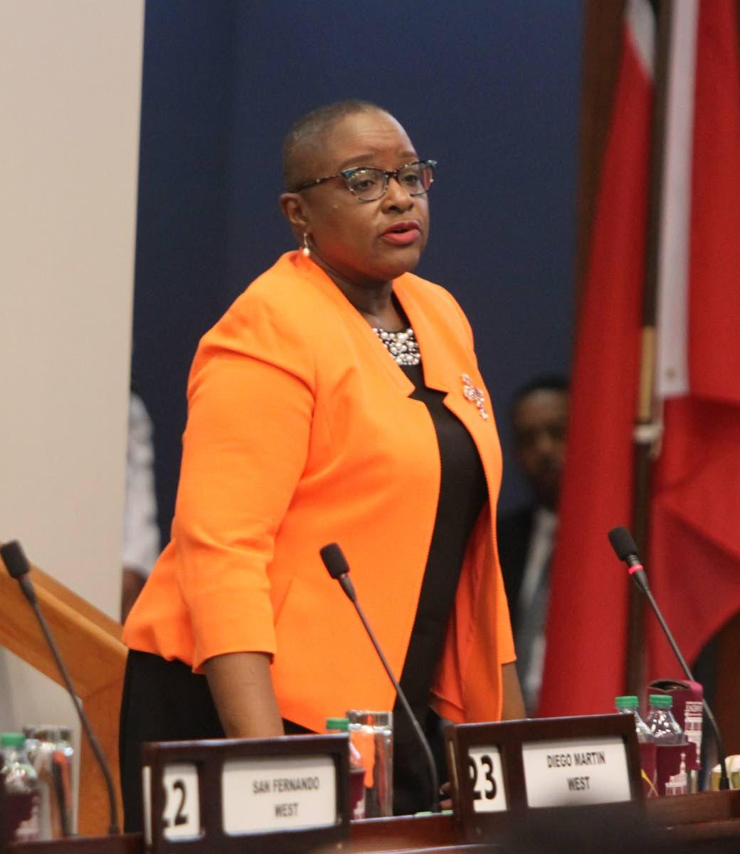 Planning Minister Camille Robinson-Regis