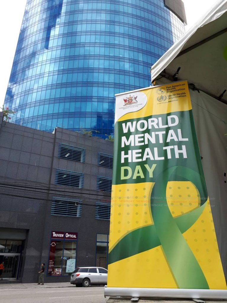 World Mental Health Day 2018 banner by the Ministry of Health.