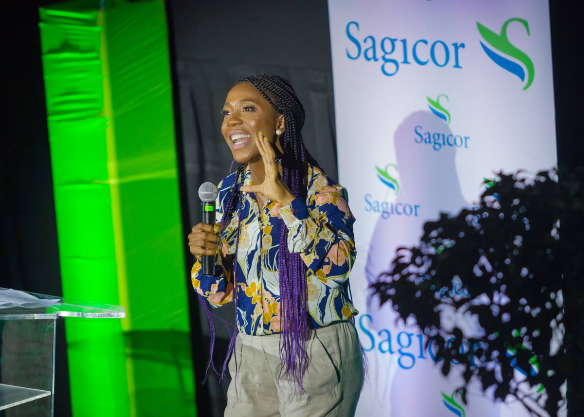 "Two-time Olympic gold medallist Shelly-Ann Fraser-Pryce reminds Sagicor staff that ""life is a race, but you have to be prepared for it"" during her speech at Sagicor's Live Your Passion Sales Rally on October 3, at MovieTowne, Chaguanas."