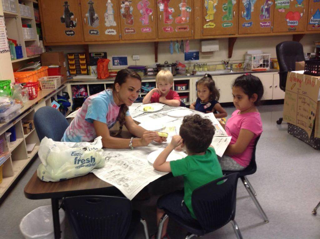 TT's Laura Welch on her new job  at a kindergarten teacher at Elon Elementary School in North Carolina.