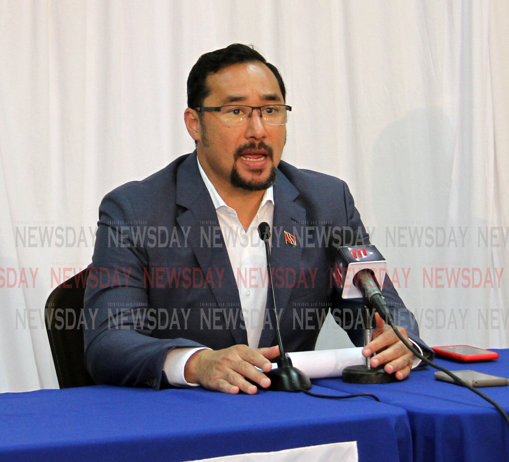 Minister Staurt Young update on flooding , National Security press conference.   PHOTO SUREASH CHOLAI