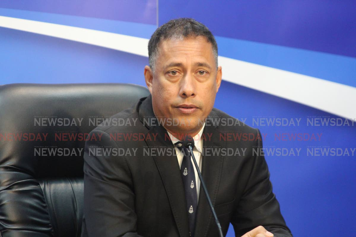 Commissioner of Police Gary Griffith  Photo by Enrique Assoon