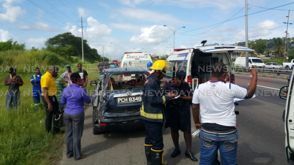 Four injured in Beetham accident