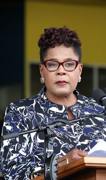 President Paula-Mae Weekes.