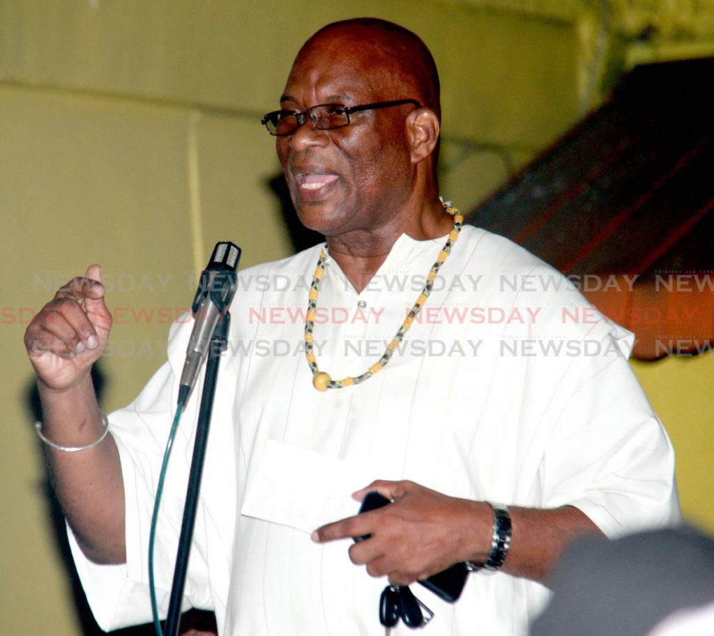 President of the SWWTU Michael Annisette. Photo by Anil Rampersad.