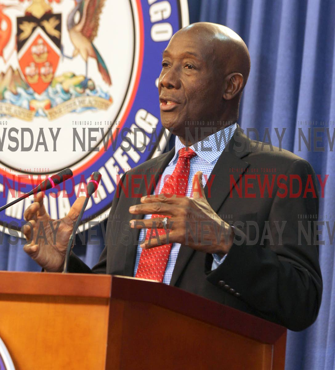 Prime Minister Dr. Keith Rowley.