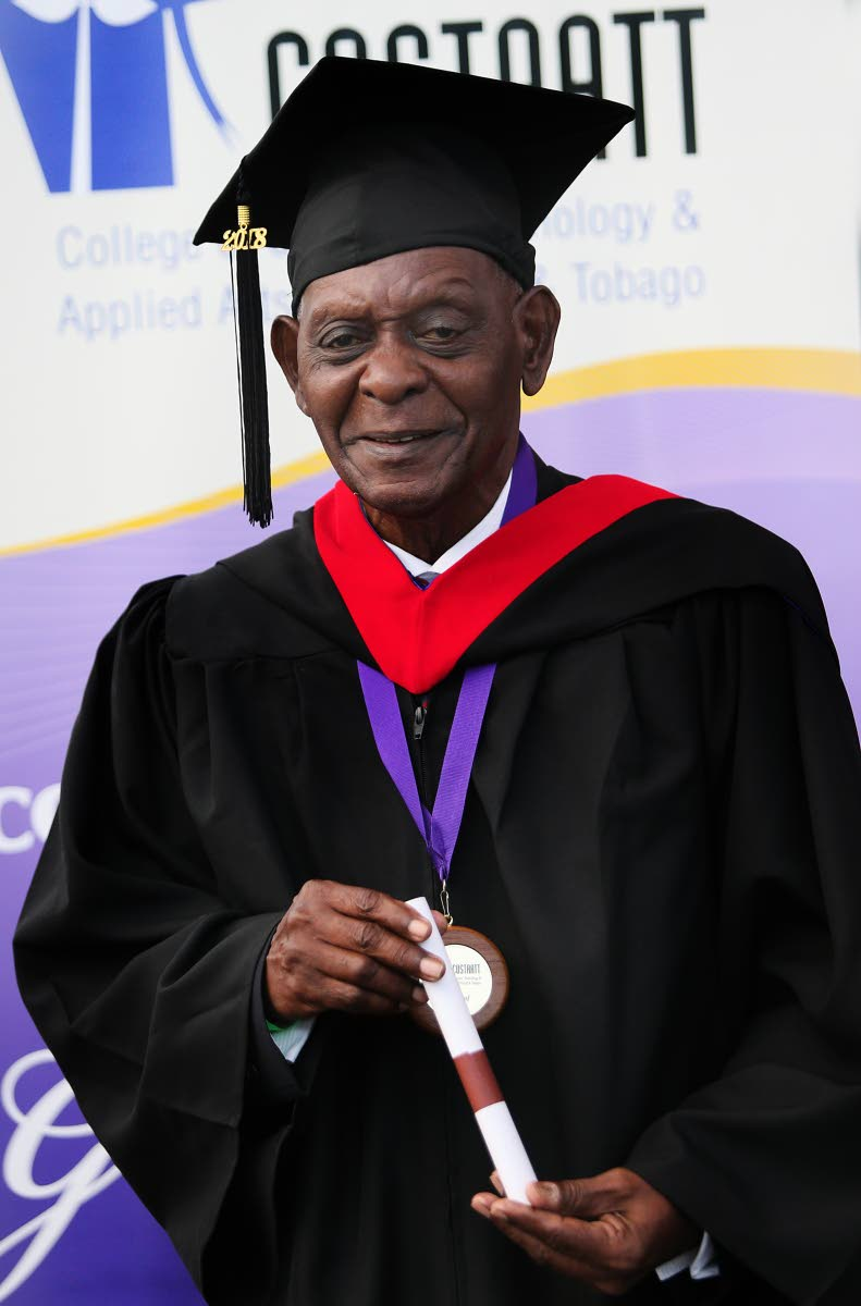 GRATEFUL: COSTAATT graduate, 84-year-old Curtis Thomas.