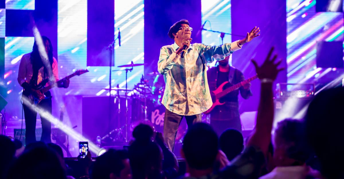 Beres Hammond has the Reggae on the Beach crowd grooving during his performance on Saturday night at Pigeon Point Heritage Park.