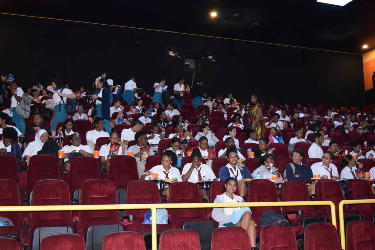 Schools in  the cinema learn about climate change through the documentary Chasing Corals.
