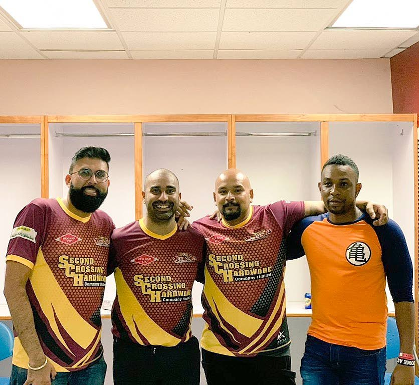 (From left) Upendra Udharamaney, Kern Ramlochan, Dr Nicholas Figaro, and Daniel Isles if the Hillview  Renegades get ready for competition.