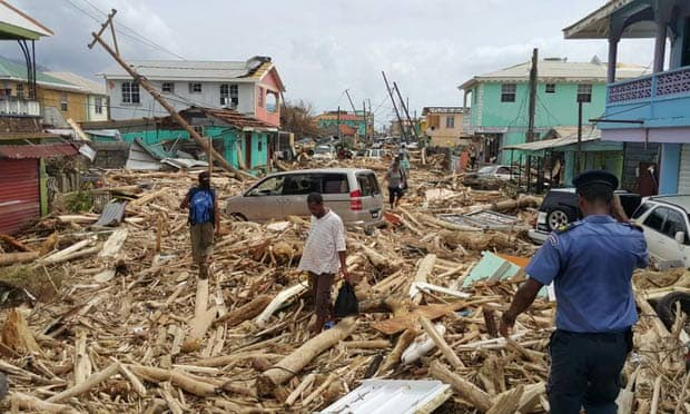 FLASHBACK: Roseau, the capital of Dominica, suffered devastating damage from Hurricane Maria last year. Photo courtesy STR/AFP/Getty Images